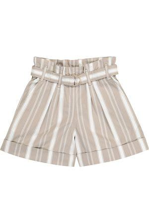 Brunello Cucinelli Gestreifte Shorts aus Twill