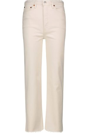 RE/DONE High-Rise Straight Jeans '70s Stone Pipe