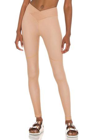 Nubyen Surplice Front Legging in - Brown. Size L (also in XS, S, M).