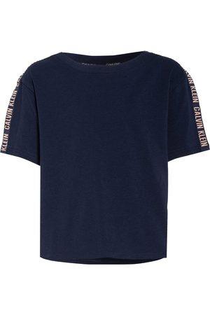Calvin Klein Damen Shirts - Cropped-Shirt blau