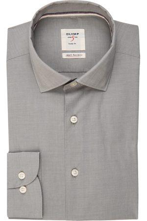 Olymp Herren Business - Hemd Level Five Smart Business Body Fit grau