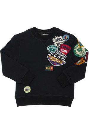 Dsquared2 Sweatshirt Aus Baumwolle Mit Patches