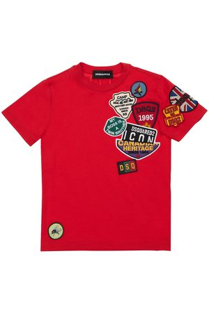 Dsquared2 Damen Shirts - T-shirt Aus Baumwolljersey Mit Patches