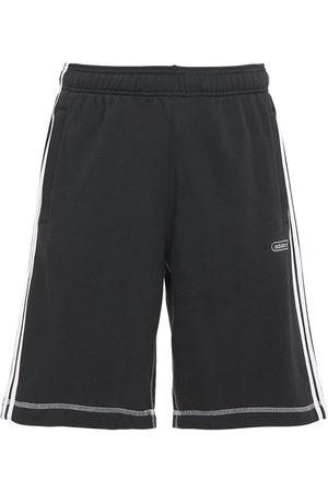 adidas Herren Shorts - Shorts Aus Baumwollmischfleece In Kontrastfarbe