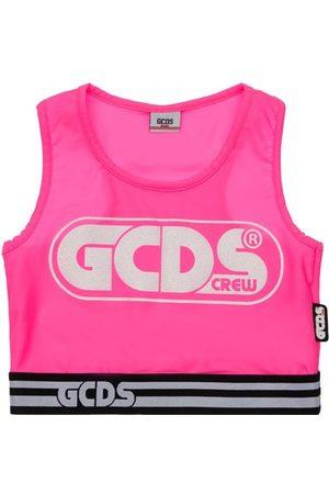 GCDS Tanktop Aus Stretch-jersey