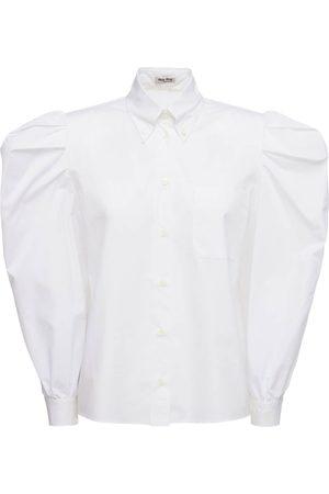 Miu Miu Damen Blusen - Hemd Aus Baumwollpopeline