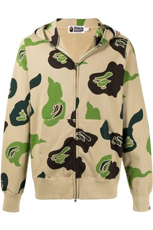 A BATHING APE® Herren Sweatshirts - DEF Camo Shark-print cotton hoodie