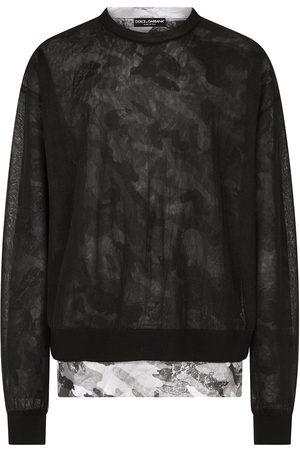 Dolce & Gabbana Double-construction round-neck pullover
