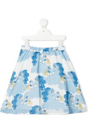 Mini Rodini Mädchen Bedruckte Röcke - Unicorn Noodles print skirt