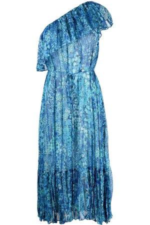 Twin-Set Floral-print one shoulder dress