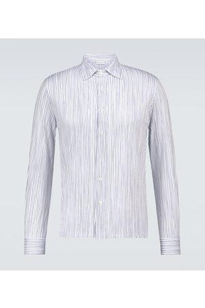CARUSO Gestreiftes Hemd aus Baumwolle