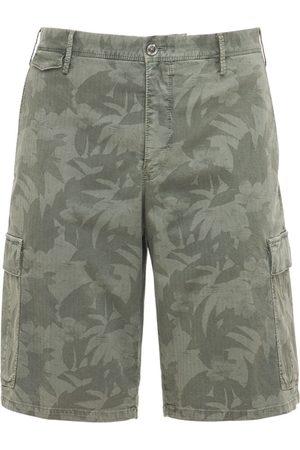 Pantaloni Torino Cargoshorts Aus Stretch-baumwolle Mit Druck
