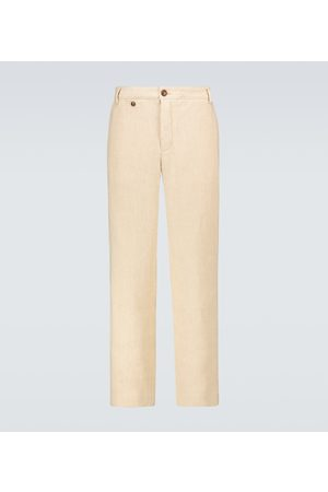 King and Tuckfield Chino-Hose Leinen Baumwolle