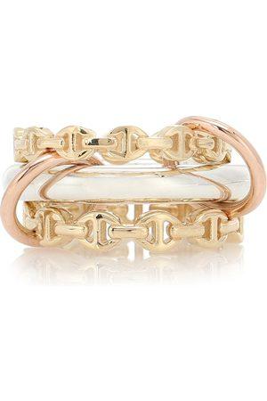 SPINELLI KILCOLLIN X Hoorsenbuhs Ring Microdame aus 18kt Gelb- und Rosé mit Sterlingsilber