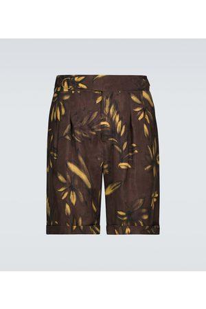 Nanushka Bedruckte Shorts Nagi aus Cupro