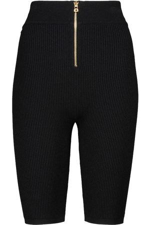 Balmain Shorts aus Rippstrick