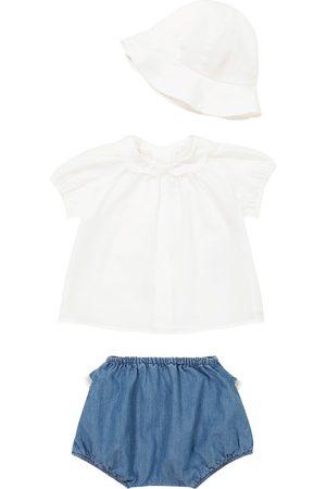 Chloé Baby Set aus T-Shirt, Shorts und Mütze