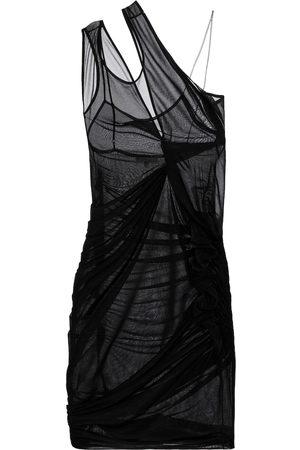 Nensi Dojaka One-Shoulder-Minikleid aus Chiffon