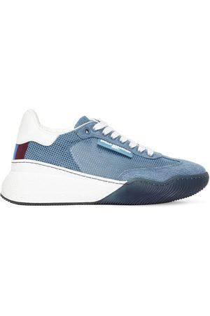 Stella McCartney 40mm Hohe Sneakers Aus Mesh Und Baumwollcanvas