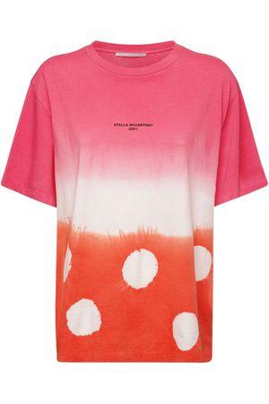 Stella McCartney Damen Krawatten - T-shirt Aus Bio-baumwolljersey Mit Tie Dye