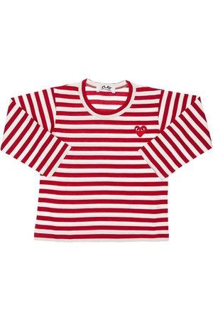 Comme des Garçons Herren Shirts - Gestreiftes T-shirt Aus Baumwolljersey