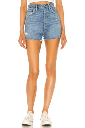 GRLFRND Damen Shorts - Jules Super High Rise Vintage Short in - Blue. Size 23 (also in 26, 24, 25, 27, 28, 29, 30, 31, 32).