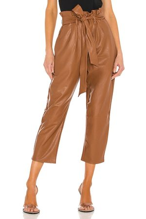 Commando Damen Leggings & Treggings - Faux Leather Paperbag Pant in - Brown. Size L (also in XS, S, M).