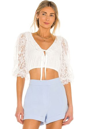 For Love & Lemons Damen Blusen - Loretta Cropped Blouse in - . Size L (also in XS, S, M).