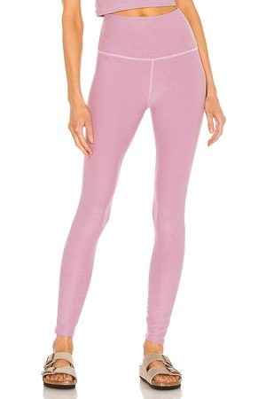Beyond Yoga Spacedye Caught in the Midi High Waisted Legging in - Pink. Size L (also in S, XS, M).
