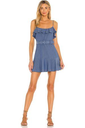 Lovers + Friends Jacquie Mini Dress in - Blue. Size L (also in XXS, XS, S, M, XL).