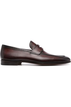 Magnanni Herren Halbschuhe - Leather penny loafers