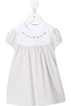 Familiar Striped embroidered cotton dress