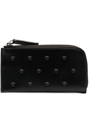 Versace Medusa-stud leather wallet