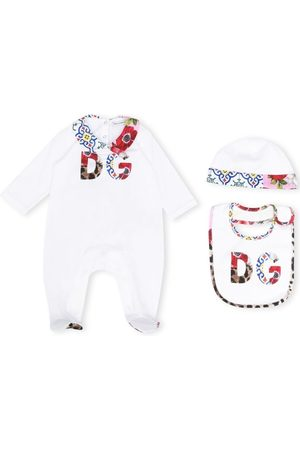 Dolce & Gabbana Kids Floral logo pajamas