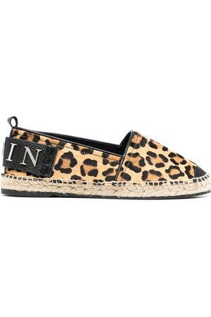 Philipp Plein Damen Sneakers - Leopard-print slip-on espadrilles