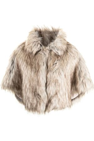 Unreal Fur Nord faux-fur cropped cape