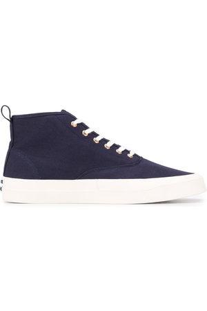 Maison Kitsuné Tops & Shirts - Mid-top canvas sneakers