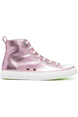 Philipp Plein Damen Sneakers - Megastar laminated high-top sneakers