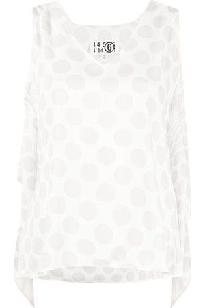 MM6 MAISON MARGIELA Polka-dot draped top