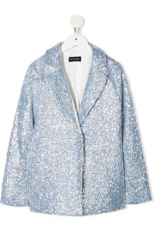 MONNALISA Blazer & Sakkos - TEEN sequinned single-breasted blazer