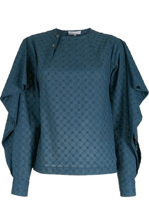 NK Damen Blusen - Ruffled broderie anglaise blouse