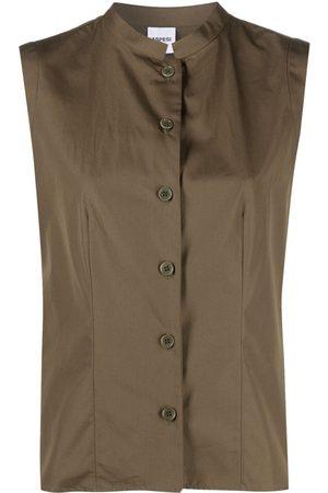 Aspesi Damen Shirts - Mandarin-collar cotton shirt