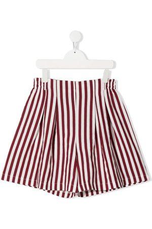 MONNALISA Shorts - Striped high-waist shorts