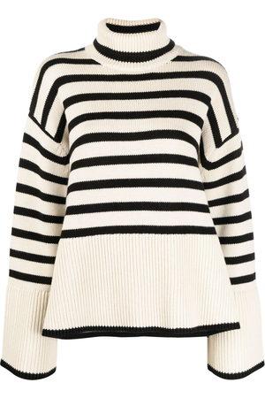Totême Damen Strickpullover - Striped roll neck jumper