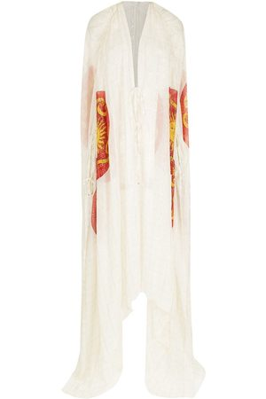 AMIR SLAMA Damen Freizeitkleider - Silk long shirt dress
