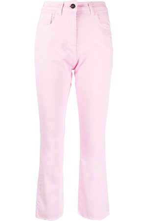 SEMICOUTURE High-rise cropped-leg jeans