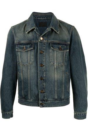 Saint Laurent Faded-effect denim jacket