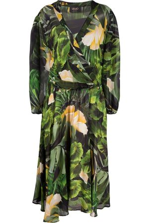 Liu Jo Damen Freizeitkleider - Tropical-print midi dress