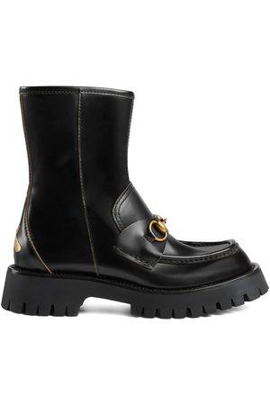 Gucci Damen Stiefeletten - Horsebit-embellished ankle boots