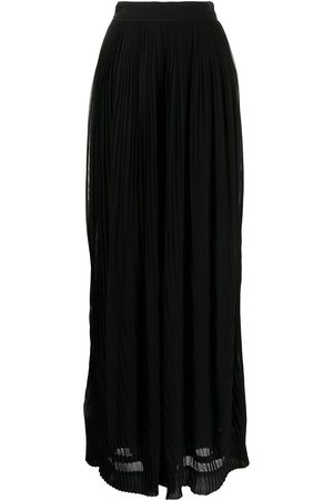 Semsem Pleated wide-leg silk trousers